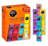 4C Powder Drink Mix | Singles Stix, On the Go | Refreshing Water Flavorings | 24 count (Variety Pack)