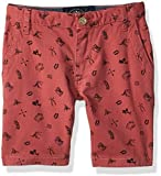 Lucky Brand Toddler Boys' Flat Front Printed Twill Shorts, Slate Rose Striped, 4T