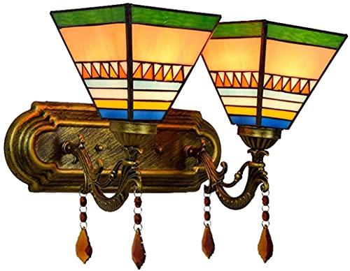 Tiffany Style Vintage Wall Light Tiffany Style Wall Luminaria con Sombra de Cristal Tintada de 6 Pulgadas balcón Sala de Estar