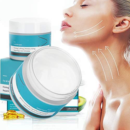 Crema rassodante per il collo, 50 g di crema idratante per la cura del collo, crema idratante rassodante antirughe rassodante da donna