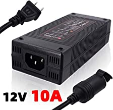iSaddle 110V AC to 12V 10A DC Power Converter - 110V-240V AC Wall Plug to 12V DC Car Cigarette Lighter Socket Transformer/w Built-in Fan for Car Vacuum Air Compressor Fridge Power Supply Adapter 120W