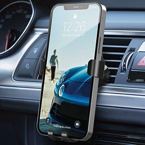Beemoon Car Phone Mount, Hands Free Phone Holder, Gravity Air Vent Car Mount For Cell Phone Compatible with iPhone Xs/Xs Max/XR/X/8/8 Plus/7/7Plus/6/6Plus, Galaxy S7/8/9/10, Google Nexus and Other