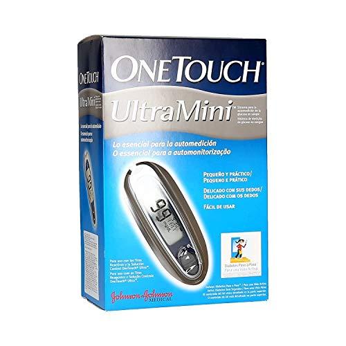 One T Ultra Mini Medidor Glucosa, color Plata