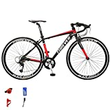 WANYE Bicicleta De Carretera 700C * 28C Bicicleta De Carreras Bicicleta De Cercanías De Ciudad De Aluminio con 27 Velocidades