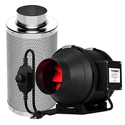 VIVOSUN Inline Fan Carbon Filter Combo