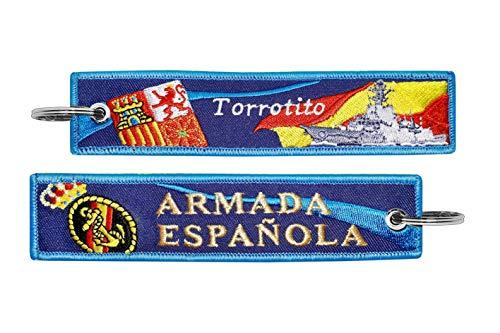 Llavero de Tela Armada Española Torrotito Azul