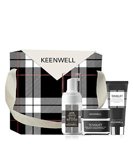Keenwell, Pack Navidad Tensilift Crema Super Lifting Antiarrugas - Día 50ml + Crema Ultra-Lifting Efecto Masarilla Noche 50ml + Limpiador Miceral Enzimático 120ml +Ahas