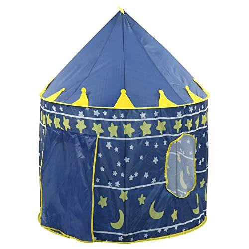 Qioniky Tienda de campaña de Tela Oxford, Ligera y portátil, Duradera y Duradera, Tienda de campaña Princess Castle, hogar para niñas para niños al Aire Libre(Blue)