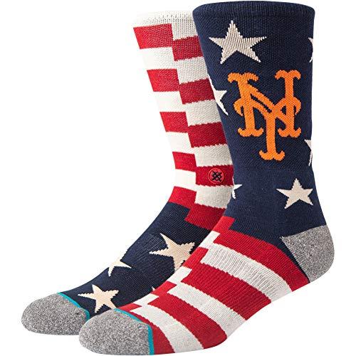 Stance Men's Mlb Brigade Crew Socks New York Mets L