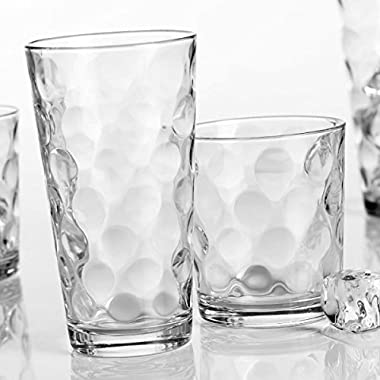 Galaxy Glassware Set Set of 12 - 6 13 OZ & 6 17 OZ