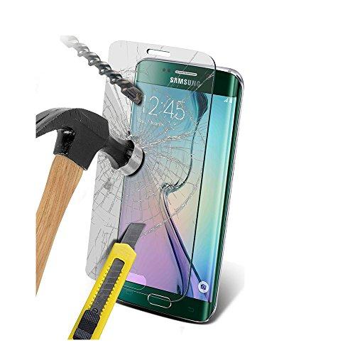 Lapinette Protector de Pantalla Compatible con Samsung Galaxy S6 Edge - 2 Piezas - Protector de Pantalla Vidrio Templado - Película Protectora Cristal Templado - 9H Force Glass Ultrarresistente