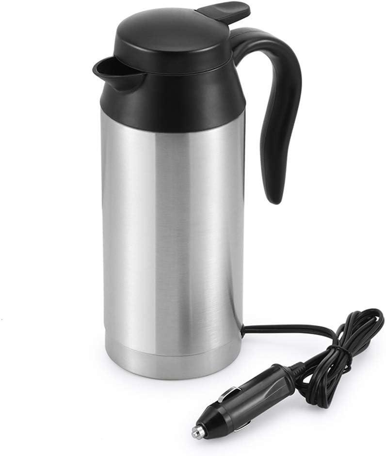 ZOUJUN Militar de acero del viaje de coches Caldera Caldera de café Coche Copa de calefacción del acero inoxidable de la taza de café del coche calentador de la taza con el DC 12V cargador Caldera Cal