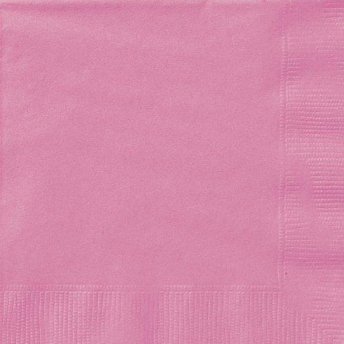 WG BRILLIANT DAZZLE - Decoraciones de fiesta en rosa y plata, edad 50 (servilletas de 2 capas, color rosa fuerte, 20 unidades)