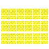 ZSooner Etiqueta de cable autoadhesiva impermeable Organizadores Home DIY resistente al desgarro sy Mark para impresora Etiqueta de identificación de papel sintético portátil Management(amarillo)