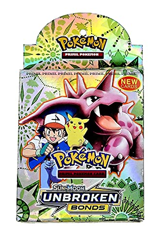 PRIMIL Poke-Moon Card Game Sun & Moon Unbroken Bonds with 1 Booster Pack and Cards for Boys,Kids,Girls,Adults