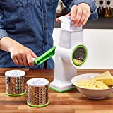 Vinsani® Hand Held White Drum Grater Includes 3 Drum Spiralizers