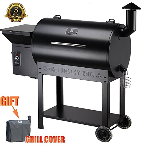 Z GRILLS Party Wood Pellet BBQ Grill & Smoker 700 Cooking Area...