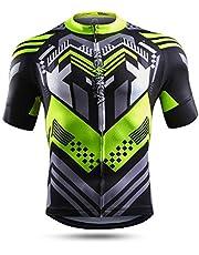 NEENCA Men's Cycling Bike Jersey Short/Long Sleeve with 3 Rear Pockets,Cycling Biking Shirt Full Zipper Breathable Quick Dry