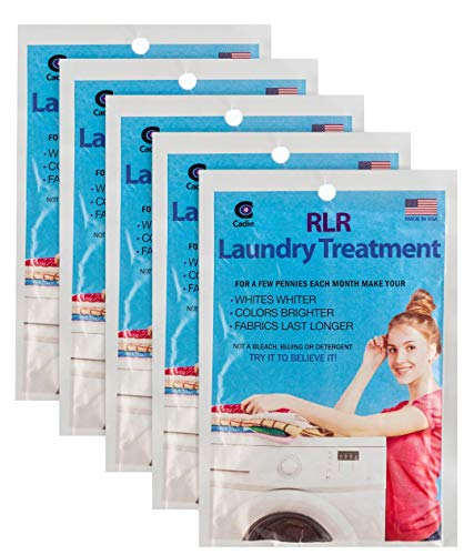 RLR Natural Powder Laundry Detergent – Whitens, Brightens, Refreshes Baby Cloth Diapers, Musty Towels, Workout Clothes - Non-toxic, Fragrance-Free For Sensitive Skin (Pack of 5)