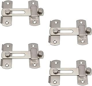 Sydien 4pcs Stainless Steel Safety Door Latches Flip Door Lock (4 inch)