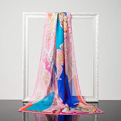 Lente en herfst lange sectie zijde sjaals dunne sectie zijde sjaals zomer dames sjaals sjaals sjaal D