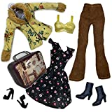 Eledoll 1960's Hippy Vintage Style Dress Fashion Pack for 11.5'-12' Dolls