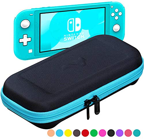 ButterFox Slim Compact Carrying Case for Nintendo Switch Lite with 19 Game and 2 Micro SD Card Holders, Storage for Switch Lite Accessories (Blue Turquoise/Black)