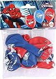Amscan 999233 Spider Man - Globos de látex (6 unidades), color rojo y azul , color/modelo surtido