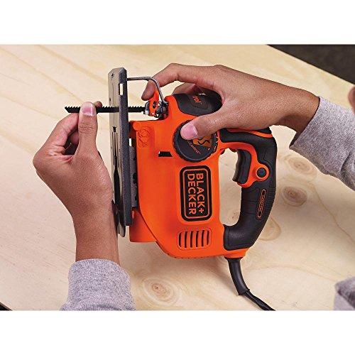BLACK+DECKER Jig Saw, Smart Select, 5.0-Amp (BDEJS600C)