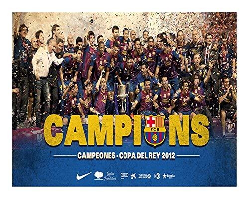 Puzzle FC Barcelona Rompecabezas -Champions Copadelrey 2012 - Cada Pieza es única, Piezas encajan Perfectamente (1000 Madera Piezas)