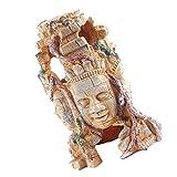 POPETPOP Acuario Cabeza de Buda Estatua Decoraciones Tanque de Peces Escultura de Buda Resina Pez Hideout Betta Cueva