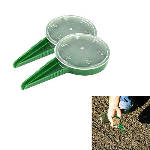 HSKB Saatgut Spender Saemaschine Pflanzer Saatgutstreuer Werkzeug Düngerstreuer Sämaschine Saatgutstreuer Streubreite Streuer Universal für Gemüse/Grün/Zwiebeln/Rettich/Rübenkarotten 2PCS (A)