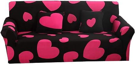 طقم اغطية للارائك بتصميم قلوب مصنوعة من الليكرا، 4 قطع