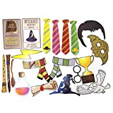 Wizard Photo Props (32 Pieces) for Photo Booths, Birthday Parties, Selfies and More! Our Wizard Photo Prop Party Favors are Pre-Made (Not DIY) for Your Convenience!