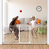 "Tokkidas 80'-23.6' Auto Close Baby Gate, Extra Wide Child Gates with One Hand Operation, Hardware Mount, Adjustable 3 Panels Angle, Walk Thru Dog Gate for Kitchen, Doorways,30""Tall"