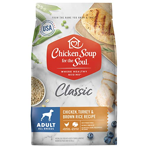 Chicken Soup for the Soul Pet Food- Adult Dog Food, Chicken, Turkey & Brown Rice Recipe, 28 lb. Bag | Soy Free, Corn Free, Wheat Free | Dry Dog Food Made with Real Ingredients