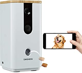 Pet Camera with Treat Tossing Dispenser WiFi Dog Camera with HD Night Vision Video Monitor and 2-Way Audio, Designed Camera for Dogs