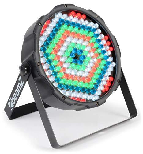 BeamZ FLATPAR Projecteur PAR – 186 x LED RGBW, shows lumineux préprogrammés, télécommande infrarouge, strobe, parfait pour éclairage de grande salle ou architecture