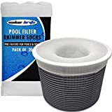 Pool Skimmer Socks - Pack of 12 Fine Mesh Swimming Pool & Spa Pre-Filter Savers for Filters, Baskets, and Skimmers