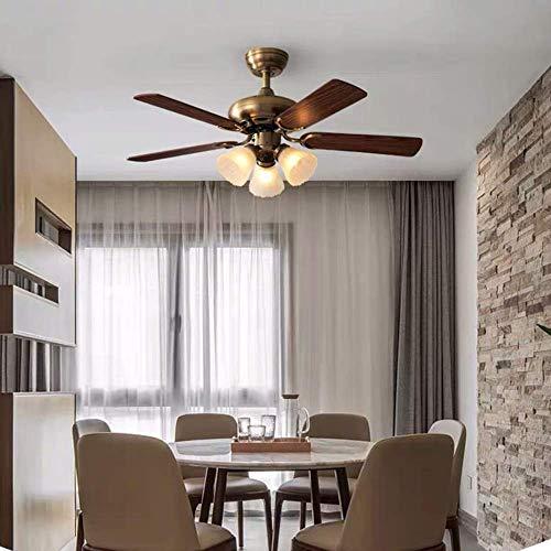 YUNZHI 3 Luz Ventilador de Techo Ventilador Luz Comedor Salón Dormitorio Lámparas Araña Modern Fan Vivo Acogedor