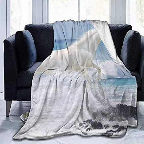 Biubiu-Shop hardlopen wit Horse ultrazachte fleece deken flanel fluweel pluche deken 50 x 40 inch