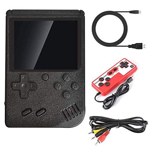 Jungen Jahren Retro Handheld Spielekonsole mit 400 klassischen Spiel, Mini Portable Pocket Game Boy 2,8 Zoll Bildschirm, 1020mAh wiederaufladbare Batterie, Weihnachten Geburtstag Geschenk