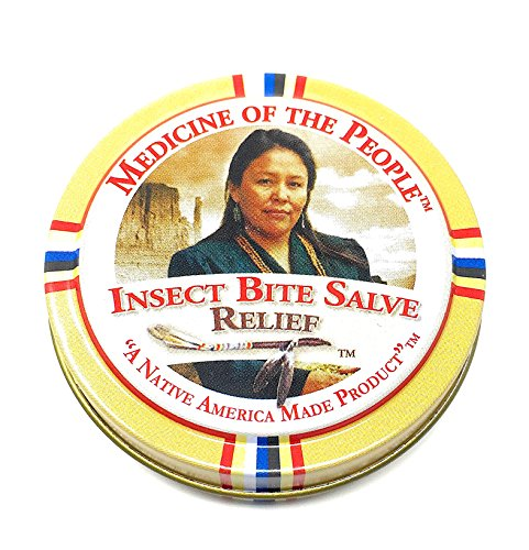 Insect Bite Salve for Alleviating Pain, Swelling and Itching by Medicine of the People .75 oz (Pack of 3 Tins)