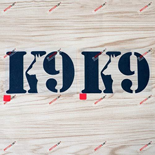 K9 K-9 Unit Police Dog Shape Decal Sticker Vinyl - 2 Pack Black, 6 Inches - for Car Boat Laptop Phone 01291