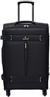 Cabin Travel Trolley Luggage Lightweight 4 Wheels,Business Travel Wheeled Suitcase 20 Inch (Color : Black, Size : 20-inch)