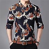 HDDFG Camisas a cuadros para hombre, otoño, con botones, manga larga, informal, camisa social, oficina de negocios, talla grande 7XL (Color : A, Size : M code)