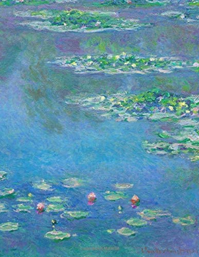 Monet LARGE Notebook 20 Claude Monet Notebook College Ruled to Write in 8 5x11 LARGE 100 Lined product image