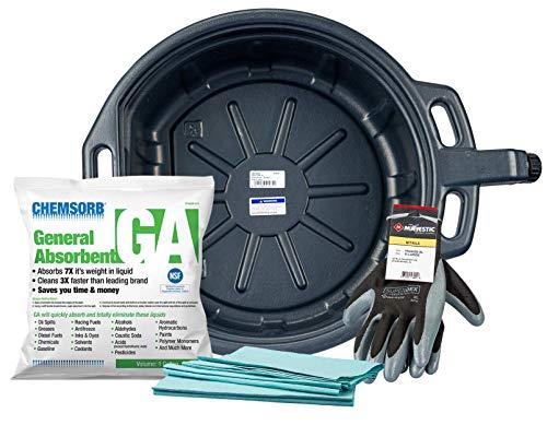 Groz No Mess Oil Change Kit with 4-1/4 Gallon Drain Pan