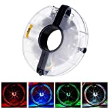<span class='highlight'><span class='highlight'>CestMall</span></span> Bike Wheel Lights Waterproof 7 Colors Bike Rim Lights Bicycle Spoke lights Wheel Hub Light with 18 Images Changing for MTB Wheel Tire Night Riding