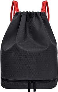 Mochila esportiva impermeável com cordão para puxar a seco da Besportble, bolsa esportiva para academia, treino, fitness, ...